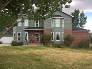 new house roof installation front Fort Collins Oakridge Onyx Black