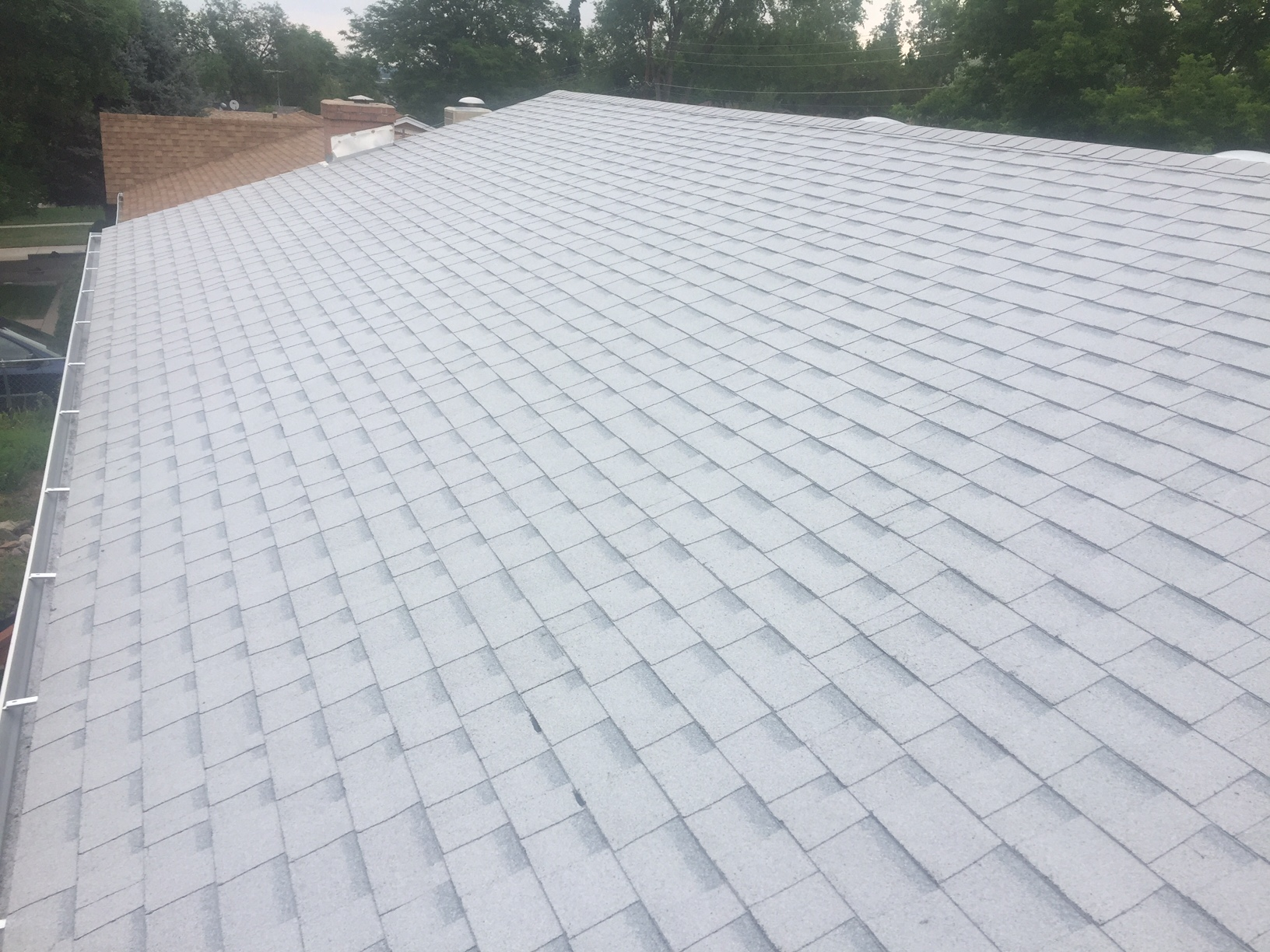 New House Roof With Oakridge Shasta White Shingles In