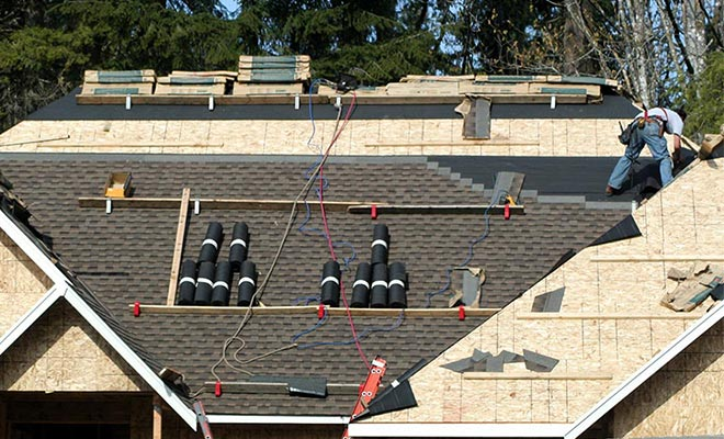 new residential roof construction