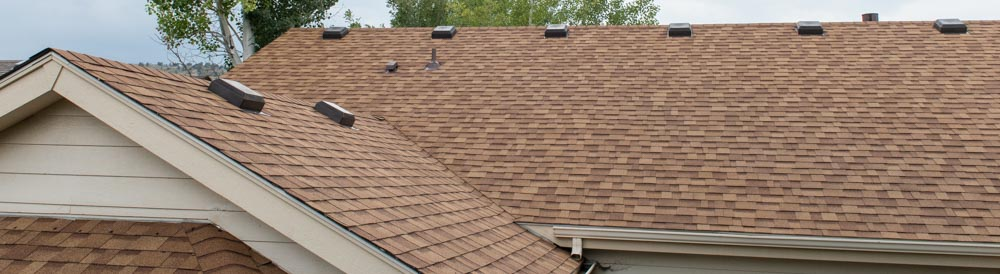 new roof shingles on house