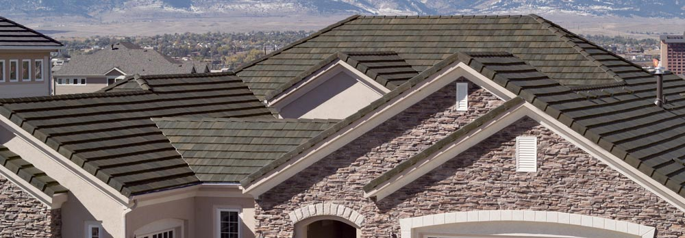 A Concrete Tile Roof On House