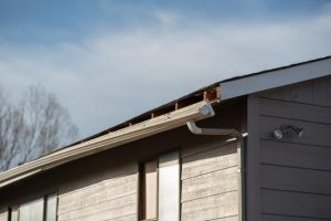 gutter detaching from house