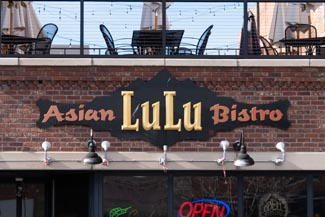 recent new commercial roofing project for LuLu Asian Bistro