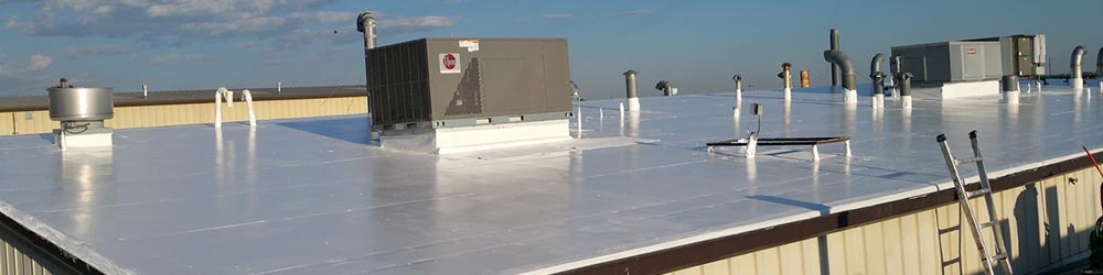 a commercial roof with pvc membrane