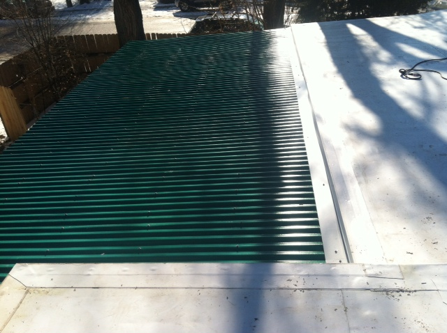 flat roof over residential porch