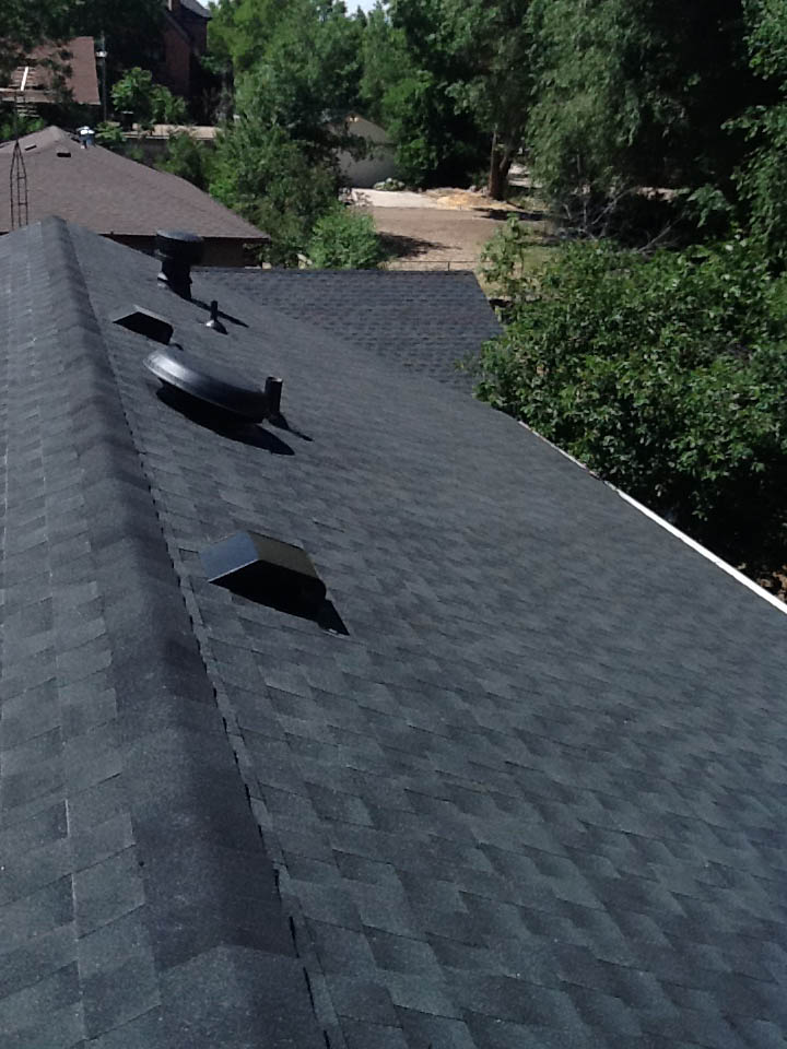 new asphalt shingle roof on house in Fort Collins
