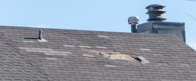 if you see missing shingles, your roof needs repair