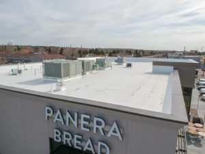new pvc commercial roof for Panera Bread in Cheyenne, WY