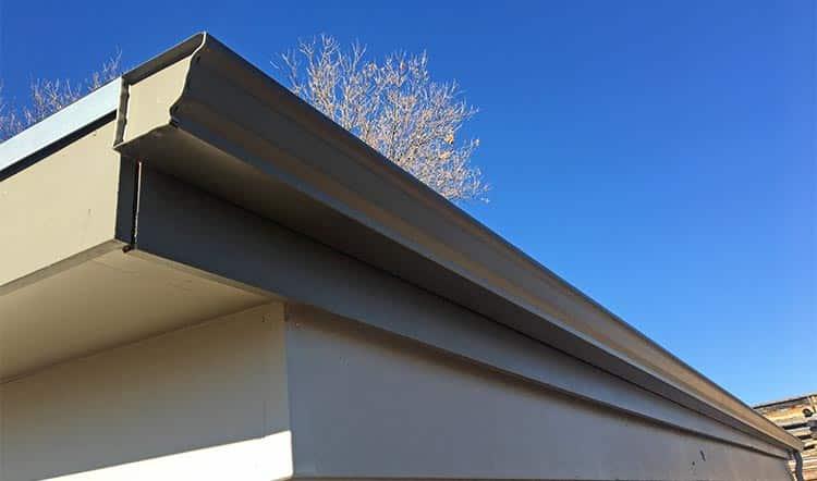 seamless gutter on building